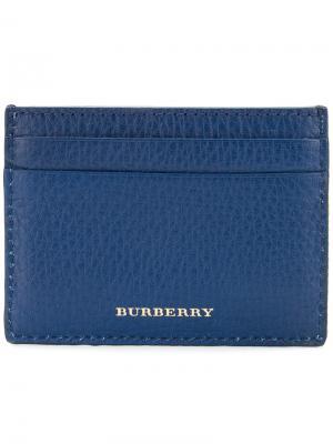 Classic design cardholder Burberry. Цвет: синий
