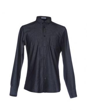 Джинсовая рубашка BIKKEMBERGS. Цвет: синий