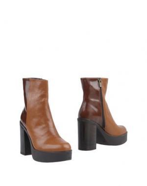Полусапоги и высокие ботинки LORENZO MARI. Цвет: коричневый