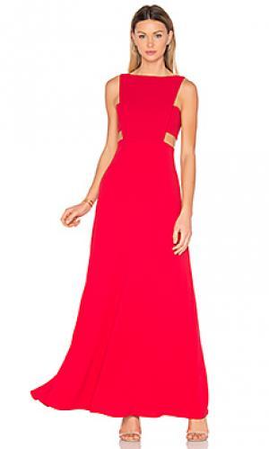 Вечернее платье с вырезом JILL STUART. Цвет: красный