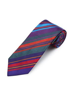 Галстук Sloe Wide And Narrow Duchamp. Цвет: лазурный, индиго, коралловый, красный, сливовый, темно-серый, темно-фиолетовый, фиолетовый
