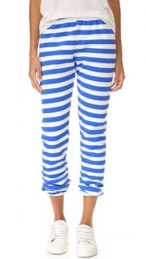 Спортивные брюки с морскими полосками Wildfox. Цвет: чистый белый/голубой ультрамарин