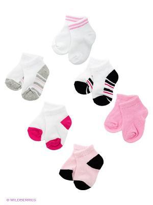 Носки, 6 пар Luvable Friends. Цвет: розовый, белый, черный