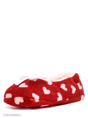 Тапочки Burlesco. Цвет: красный, белый