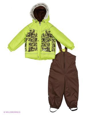 Комплект одежды Kerry. Цвет: темно-коричневый, салатовый