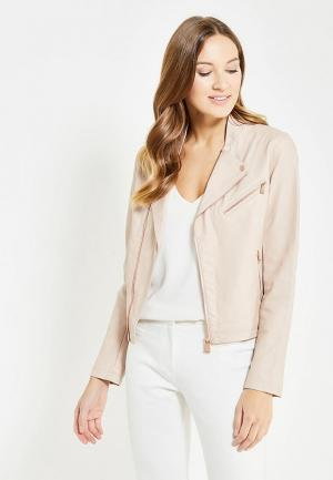 Куртка кожаная Motivi. Цвет: розовый