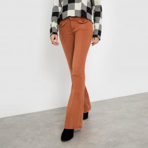 Джинсы расклешенные с карманами, POWERS PEPE JEANS. Цвет: темно-оранжевый