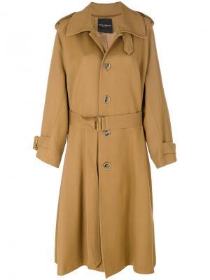 Свободное пальто-тренч Erika Cavallini. Цвет: коричневый