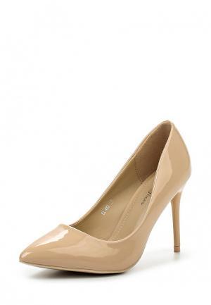 Туфли Max Shoes. Цвет: бежевый