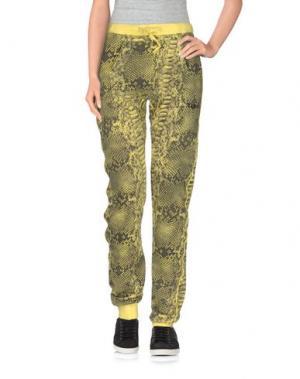 Повседневные брюки HAPPINESS. Цвет: желтый
