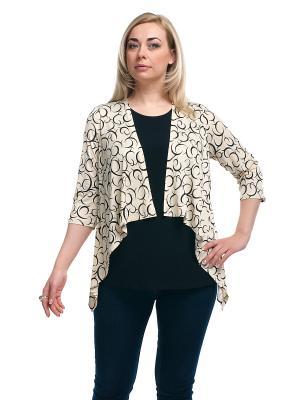 Блуза OLSI. Цвет: молочный, черный