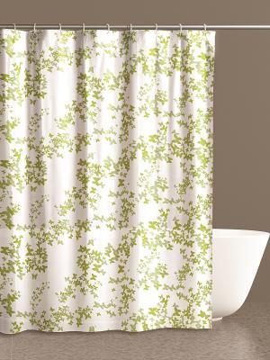 Штора для ванной комнаты 180х200 100% ПВХ IQ-SPA. Цвет: зеленый