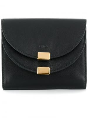 Georgia bifold wallet Chloé. Цвет: чёрный
