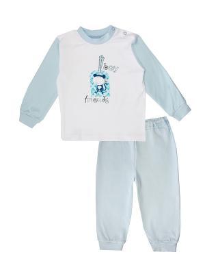Пижама КОТМАРКОТ. Цвет: светло-голубой, белый