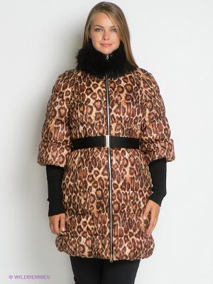 Пальто Sinta Via. Цвет: коричневый, молочный, черный
