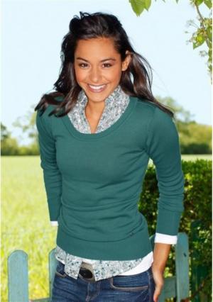 Удлиненный пуловер AJC. Цвет: бордовый, зелено-синий, коричневый, серый меланжевый, черный