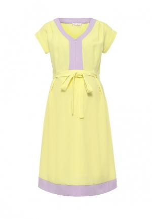 Платье MammySize. Цвет: желтый