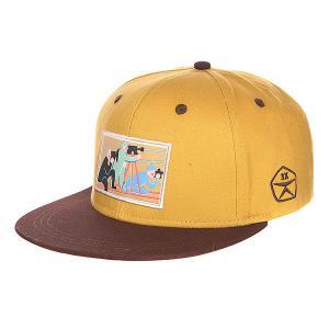 Бейсболка  Фильм Beige/Brown Запорожец. Цвет: желтый,коричневый