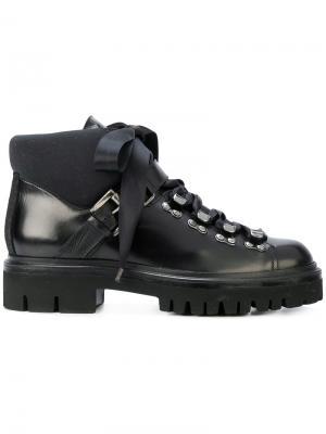 Ботинки на шнуровке Santoni. Цвет: чёрный