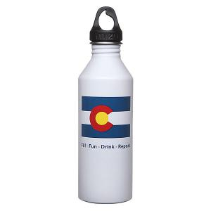 Бутылка для воды  M8 800ml Colorado Flag Glossy White Mizu. Цвет: белый