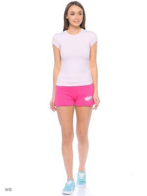 Шорты Adidas. Цвет: розовый