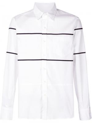Рубашка с контрастными полосками Ovadia & Sons. Цвет: белый