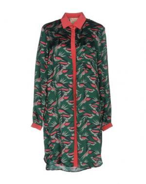 Короткое платье GARAGE NOUVEAU. Цвет: зеленый