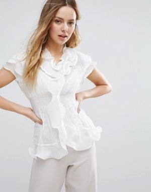 Jasmine Блузка с рюшами. Цвет: белый
