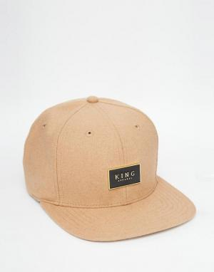 King Apparel Бейсболка Gold Seal. Цвет: рыжий