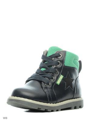 Ботинки Indigo kids. Цвет: синий, зеленый