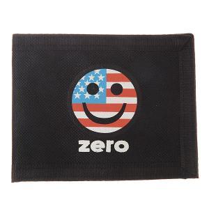 Кошелек  Usa Bi-fold Happy Face Zero. Цвет: черный