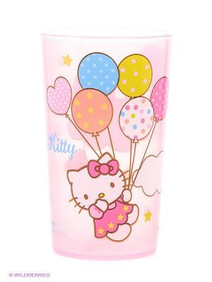 Стакан  Hello Kitty Trudeau. Цвет: розовый, белый