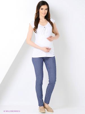 Брюки для беременных 40 недель. Цвет: синий