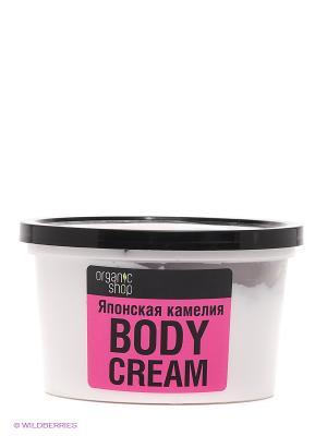 Крем для тела Японская камелия Organic Shop. Цвет: белый, розовый, черный