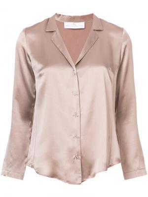 Рубашка с V-образным вырезом Amanda Uprichard. Цвет: телесный