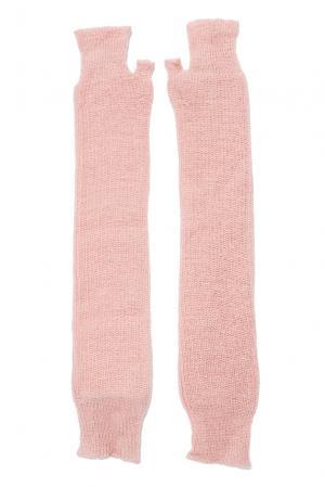 Митенки из шерсти 153307 Norsoyan. Цвет: розовый