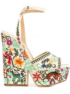 Босоножки с вышивкой Cancun Sergio Rossi. Цвет: многоцветный