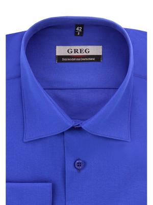 Рубашка GREG. Цвет: голубой, синий