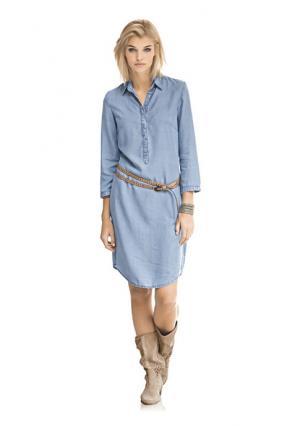 Джинсовое платье Mandarin. Цвет: джинсовый синий