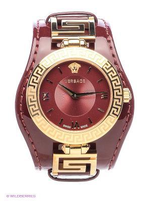 Часы Versace. Цвет: бордовый, золотистый