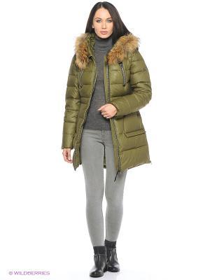 Пальто Snow Guard. Цвет: оливковый