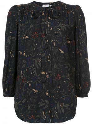 Блузка с цветочным принтом Ag Jeans. Цвет: синий