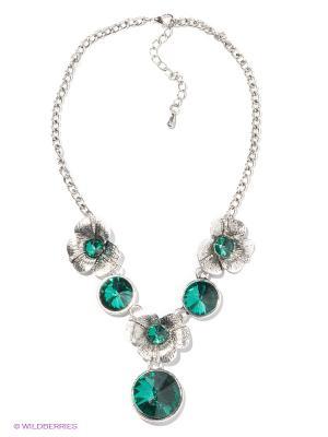 Колье Royal Diamond. Цвет: серебристый, зеленый