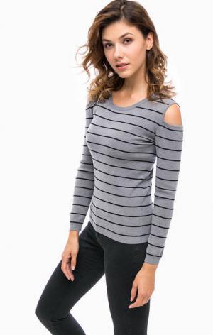 Джемпер с открытыми плечами Kocca. Цвет: серый