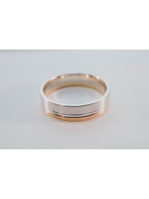 Кольцо обручальное Roberto Bravo. Цвет: серебристый, золотистый