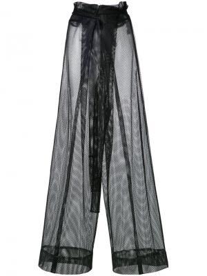 Сетчатые расклешенные брюки Demoo Parkchoonmoo. Цвет: чёрный