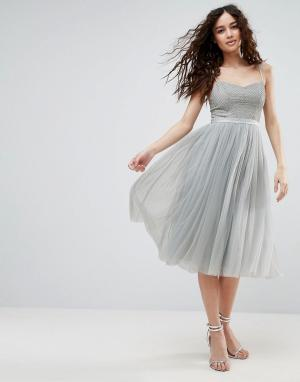 Needle & Thread Балетное платье Coppelia. Цвет: синий