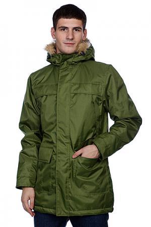 Куртка парка  Winter Parka Olive Urban Classics. Цвет: зеленый