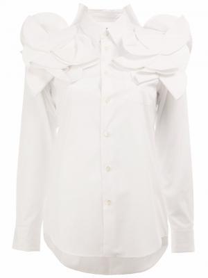 Рубашка с объемными аппликациями Junya Watanabe Comme Des Garçons. Цвет: белый