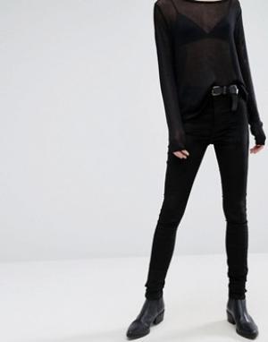 Dr Denim Бархатные джинсы с классической талией Plenty. Цвет: черный